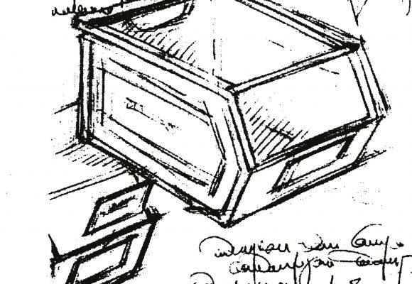 SCHAEFER Bin design original drawing