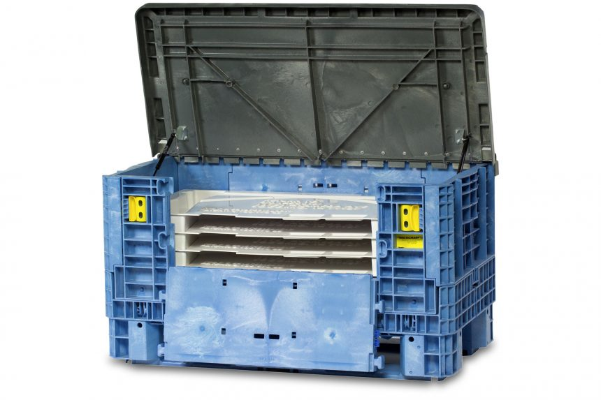 Bulkstac Bulk Container with Lid and Dunnage