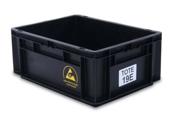 ESD Straight Wall Container