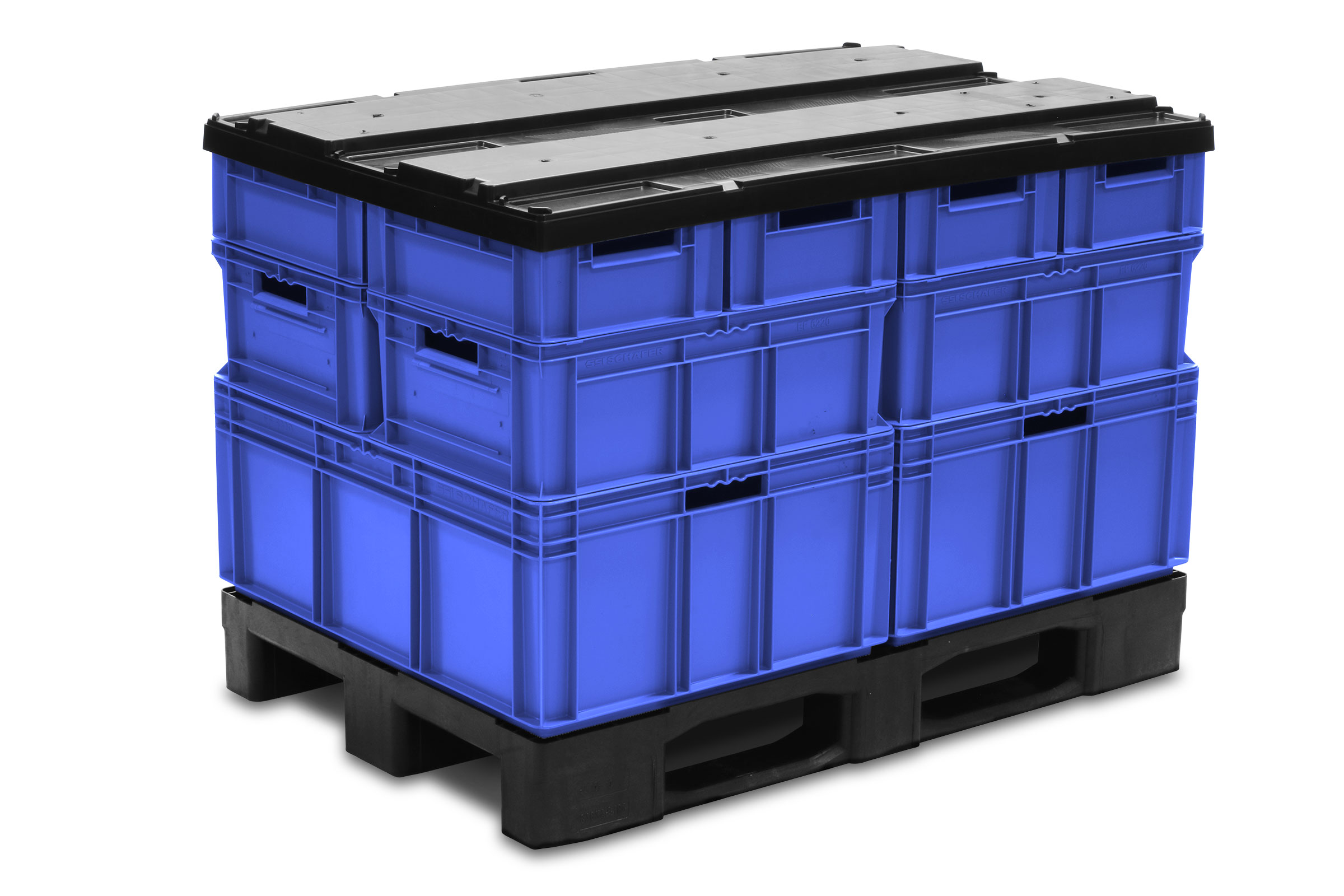 EFP Pallet with containers and Top Cap