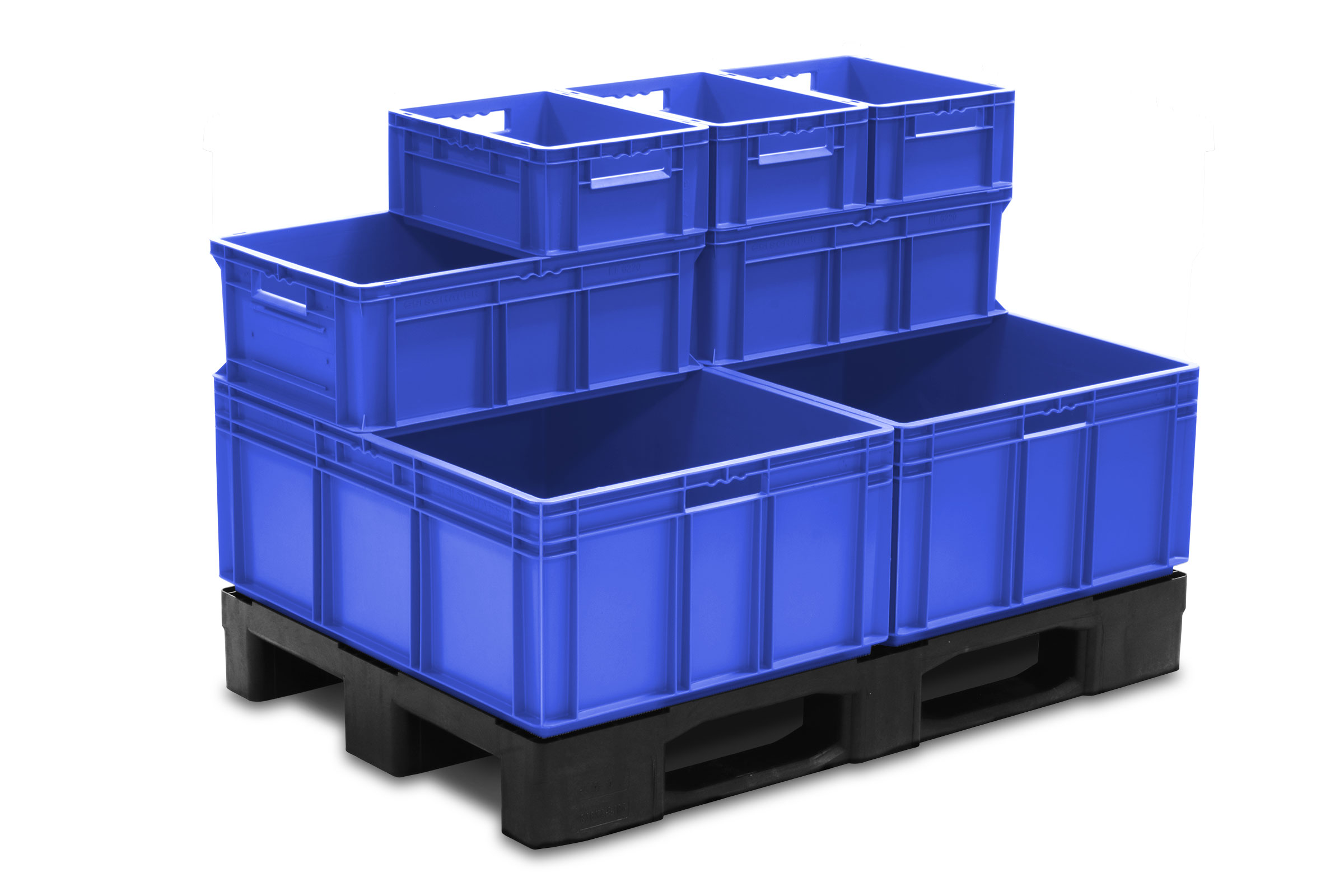 EFP Pallet with interstacking containers