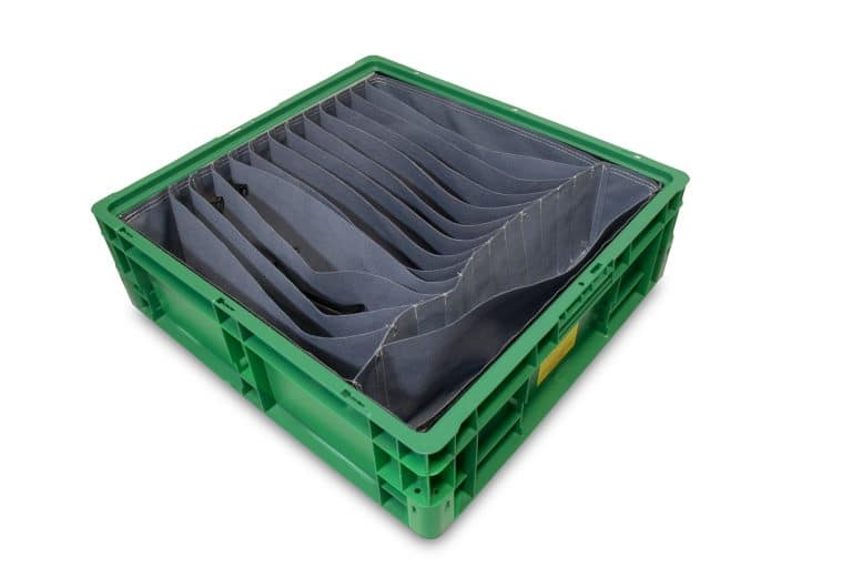 sewn textile dunnage with automotive parts