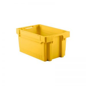 EFB643 Yellow Heavy Duty Stack and Nest Container