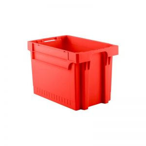 EFB644 Red Heavy Duty Stack and Nest Container