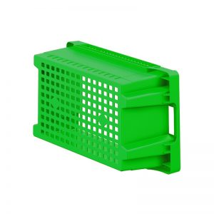 EFB643 Green Mesh Heavy Duty Stack and Nest Container