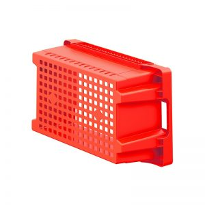 EFB643 Red Mesh Heavy Duty Stack and Nest Container