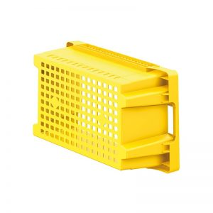 EFB643 Yellow Mesh Heavy Duty Stack and Nest Container