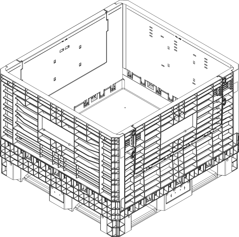 Bulk bin CAD drawing