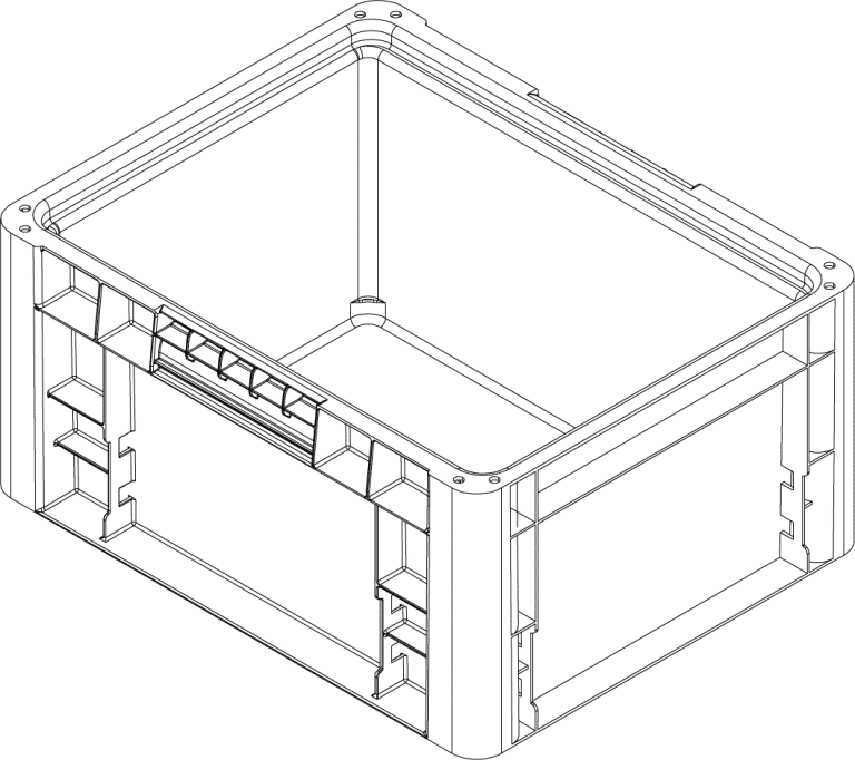 Handheld Container CAD drawing