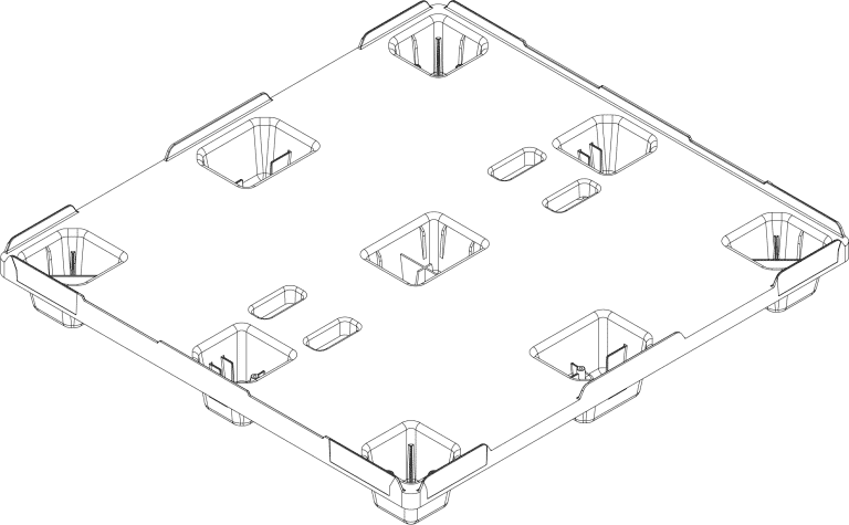 Pallet CAD drawing