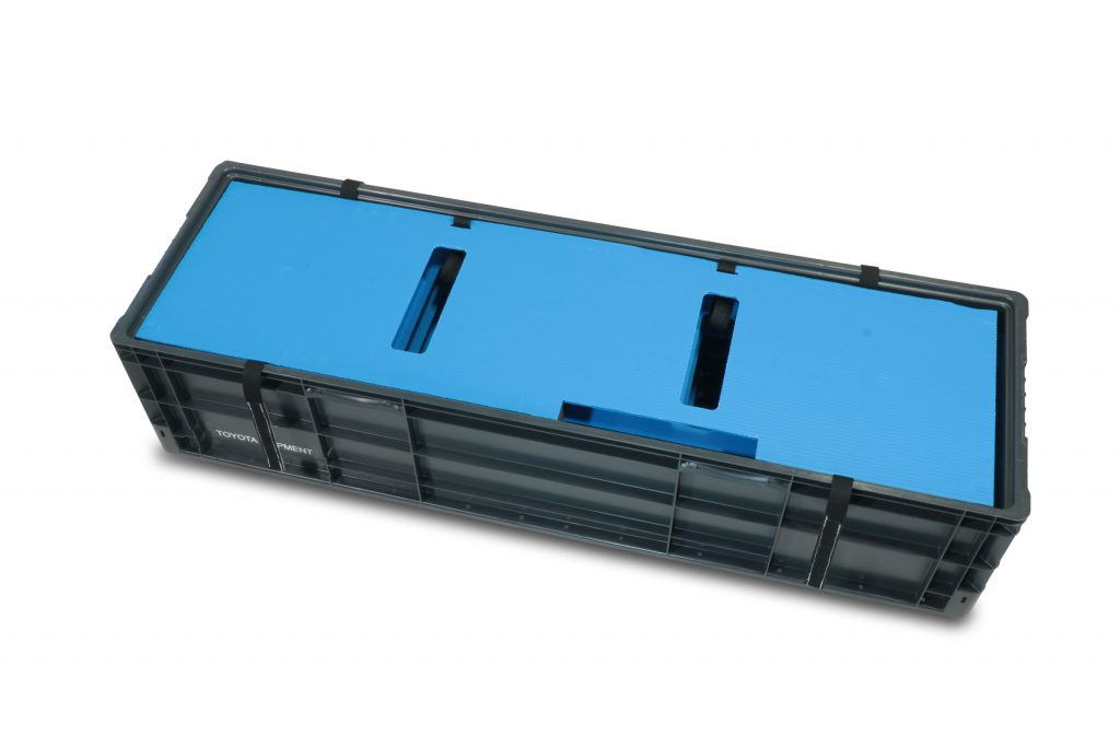 Plastic corrugated and XLPE foam multi-layer dunnage set