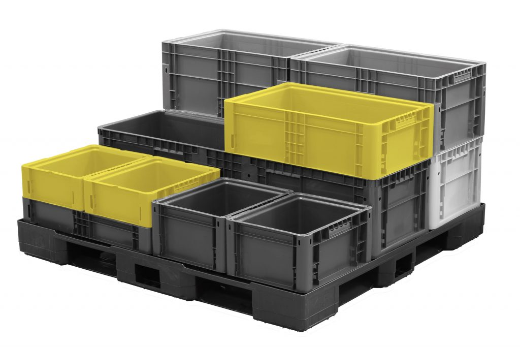 SSI SCHAEFER containers are designed to cube pallets